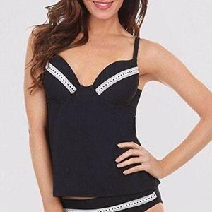 7ff50b2f0c Maidenform Push Up black swimsuit tankini top